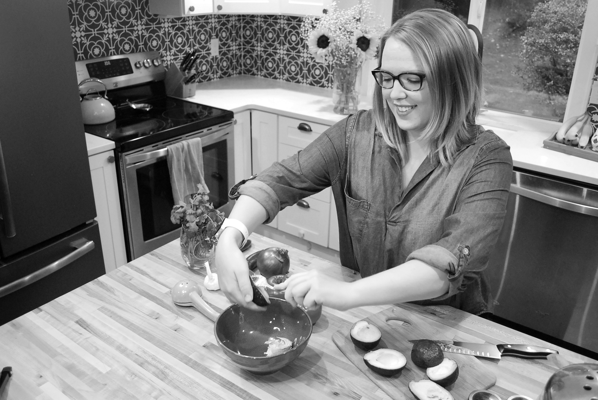 Cassie Christopher is cooking healthy foods to reduce emotional eating for her clients.